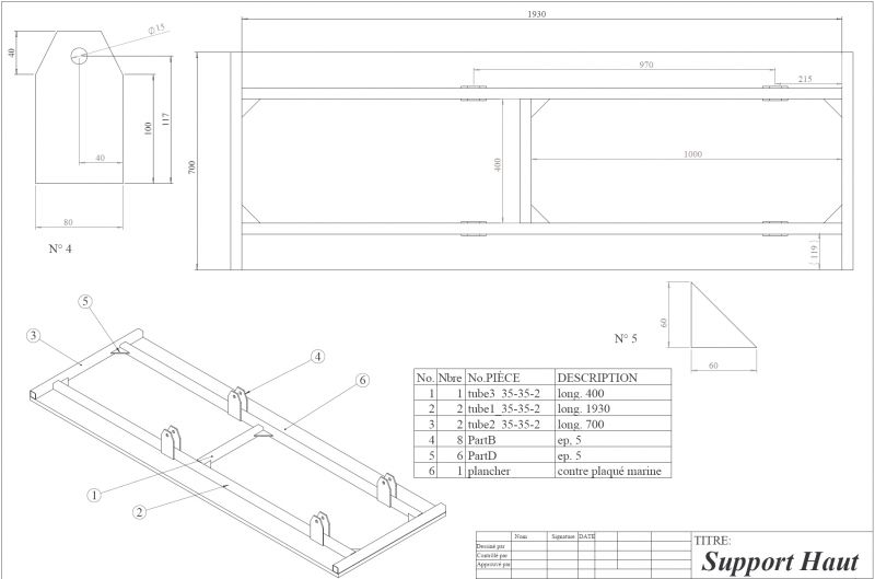 Gsxr750w fabrication d une table l vatrice hydraulique - Plan fabrication table ...